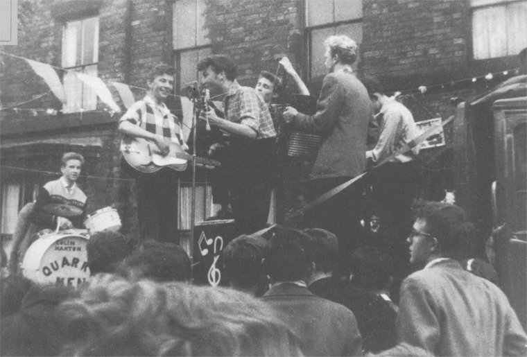 The Quarrymen in Liverpool at Rosebery Street, 1957